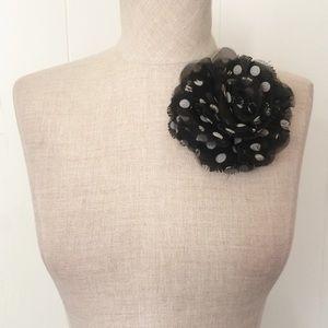 Polka Dot Flower Pin / Clip